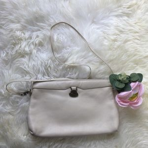 Etienne Aigner white ivory cream leather purse